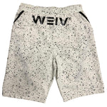 Load image into Gallery viewer, White Splatter Logo Shorts | gymgiantgear