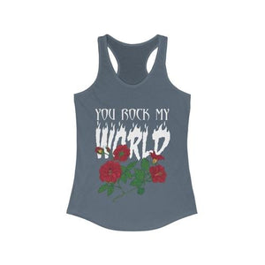 You Rock my World Racerback Tank Top | gymgiantgear