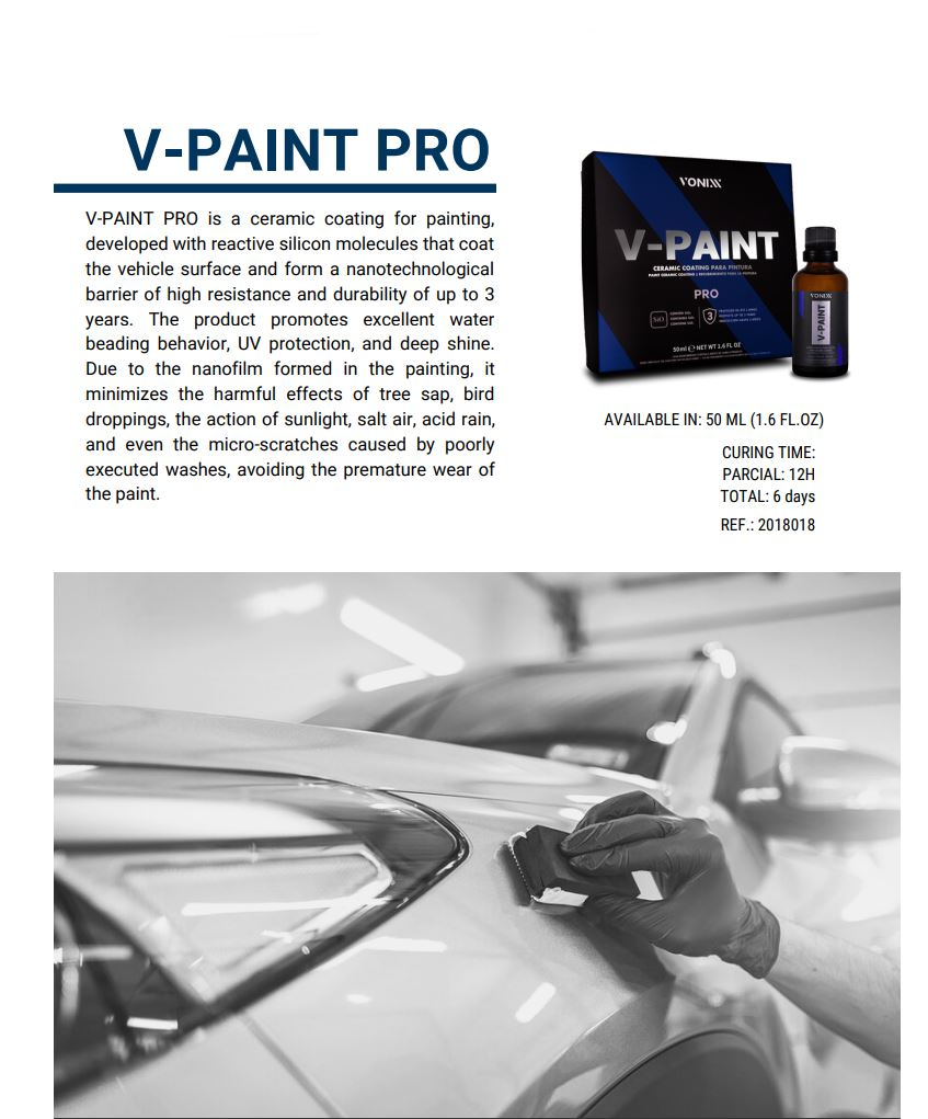 vonixx catalog 2021 car detailing products such as wax and coating