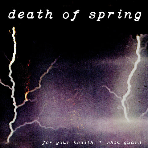 "Album art for For Your Health + Shin Guard ""Death of Spring"" split LP"