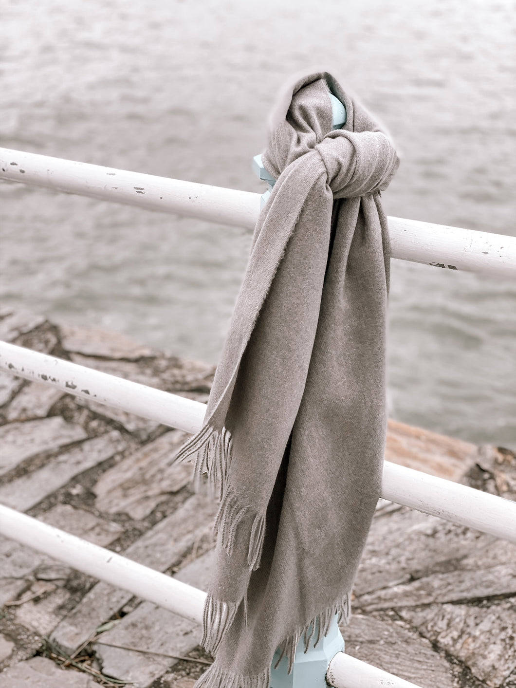 Oversized Super Soft Grey Scarf