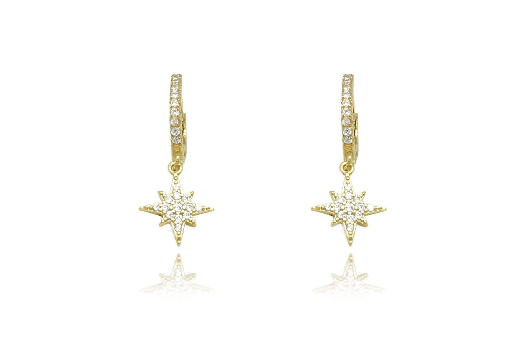 Cohan Gold Hoop Star Earrings