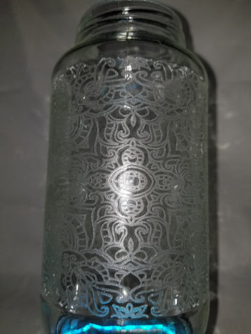 Custom Glass Jar engraving