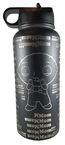 Momma Water Bottle 32oz w/ Straw