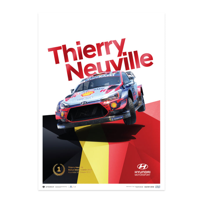 Thierry Neuville WRC-i20 Monte Carlo Champion Poster 2020