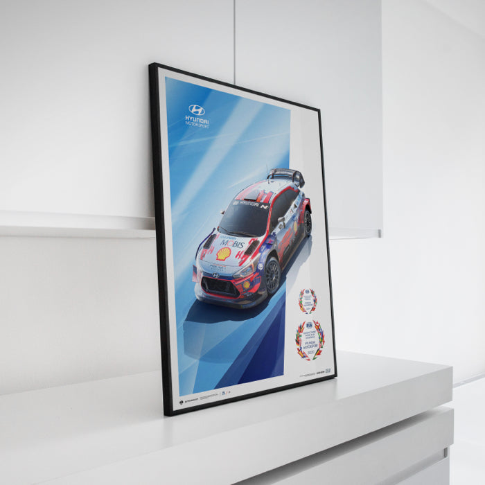 Hyundai Motorsport – WRC Manufacturers' Champions 2019 and 2020 POSTER
