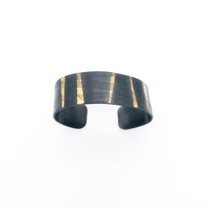 24k Gold and Steel Cuff Bracelet