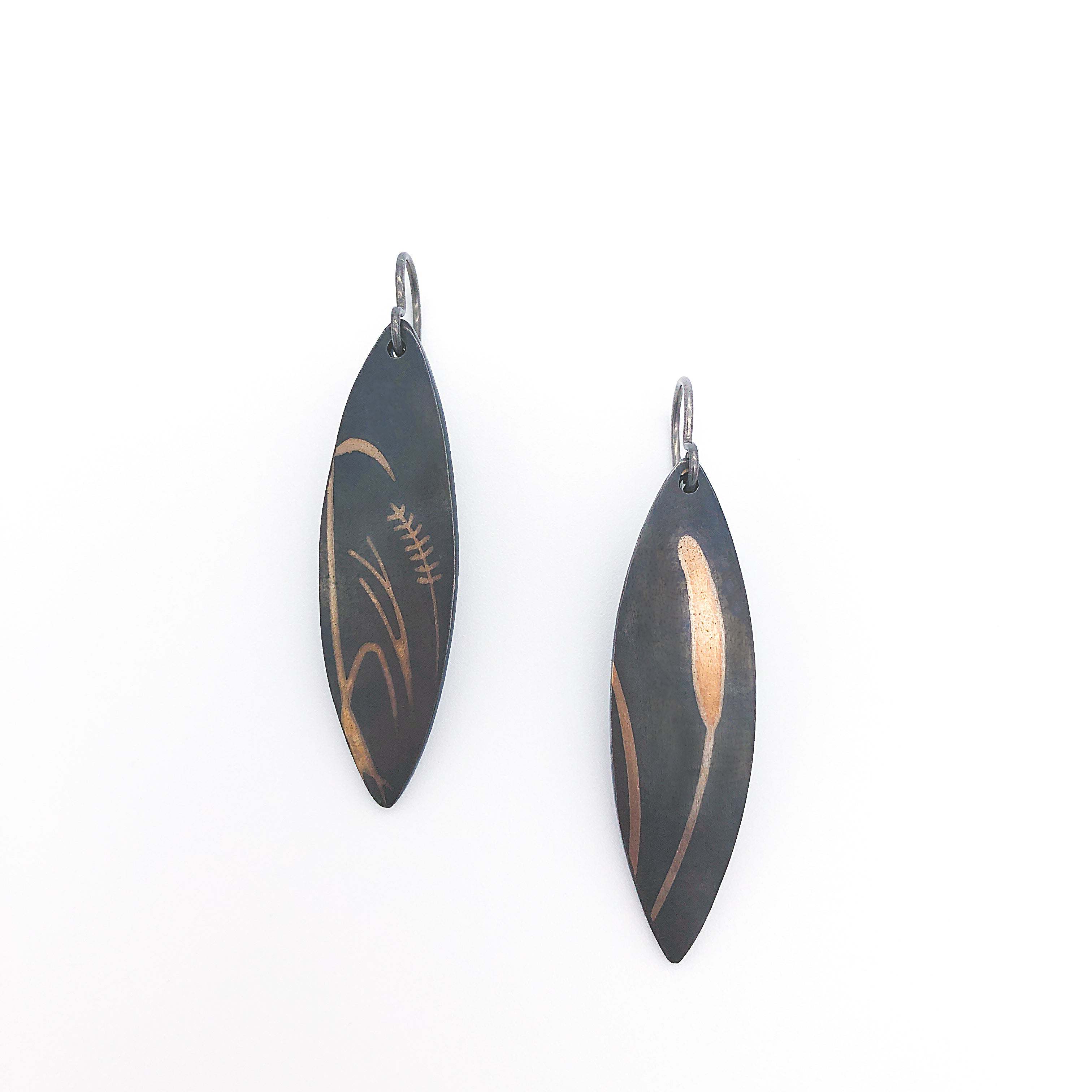 Cattail Earrings