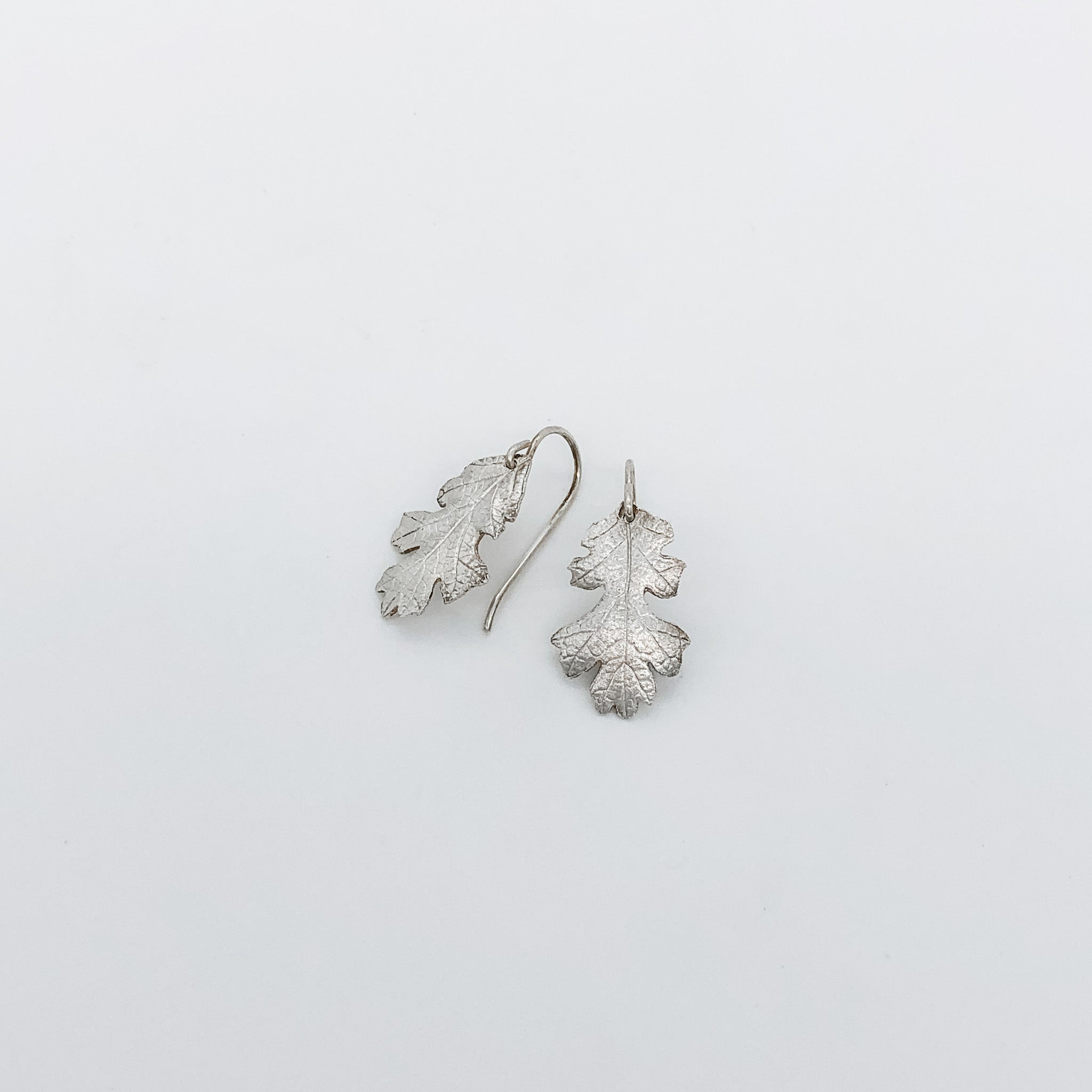 Oak Leaf Earrings, Tiny  -sold