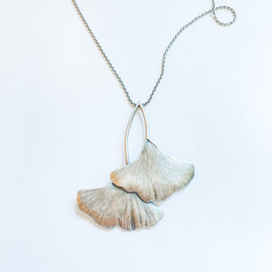 Nouveau Ginkgo Leaves Necklace