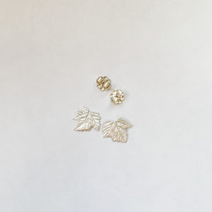 Grape Leaf Stud Earrings