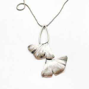Nouveau Ginkgo Leaves Necklace -sold