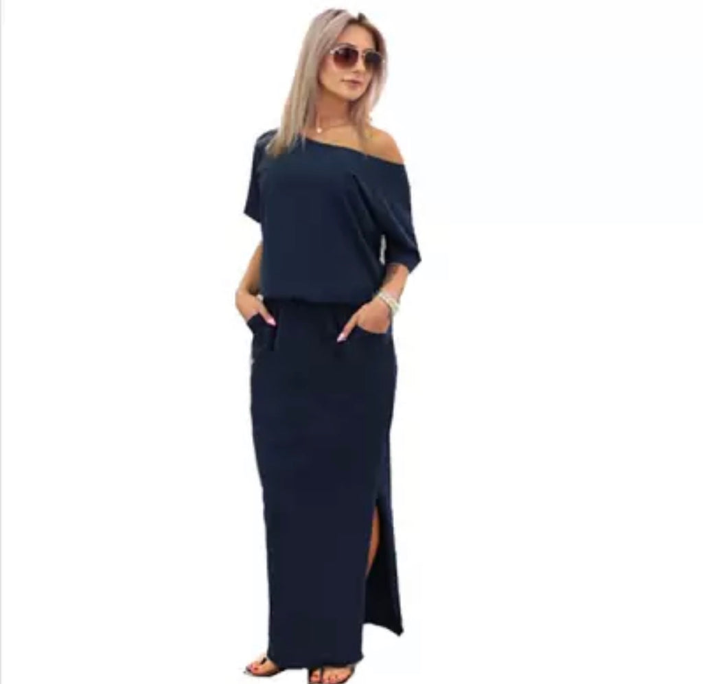 Women's Off The Shoulder Boho Maxi Dress
