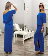 Load image into Gallery viewer, Women's Off The Shoulder Boho Maxi Dress