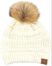 Load image into Gallery viewer, CC Beanie with Fur Pom