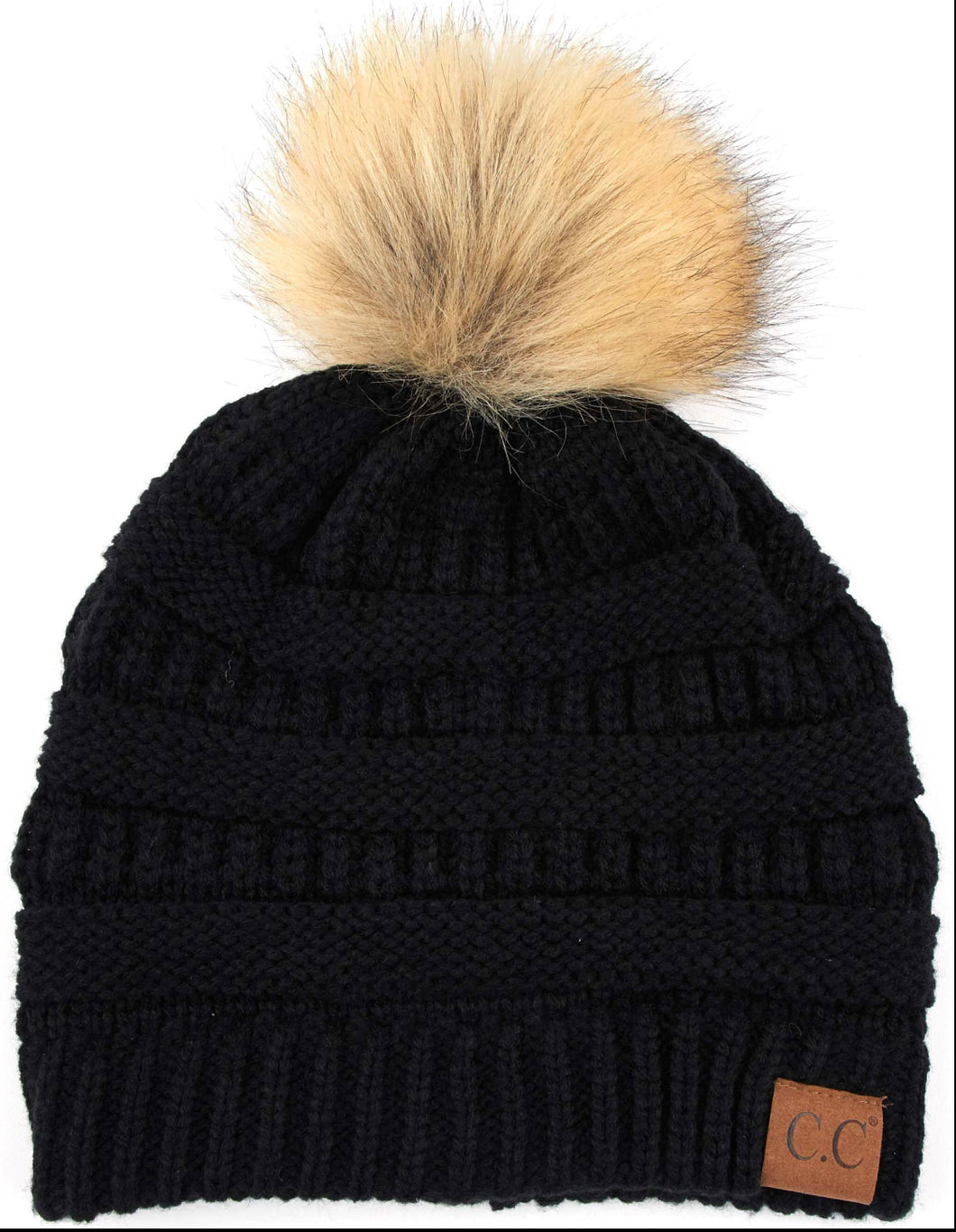 CC Beanie with Fur Pom