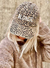 Load image into Gallery viewer, Brown Leopard Embroidered Trucker Hat