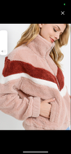 Load image into Gallery viewer, Fur Colorblock Kangaroo Pocket Jacket