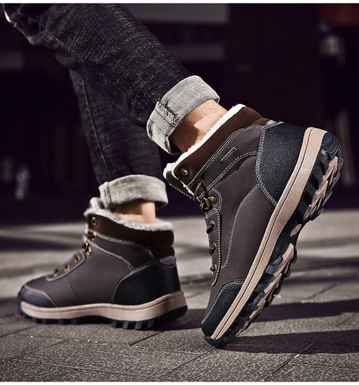 Anti Slip Leather Snow Boots