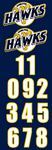 Hawks Helmet Stickers with Numbers