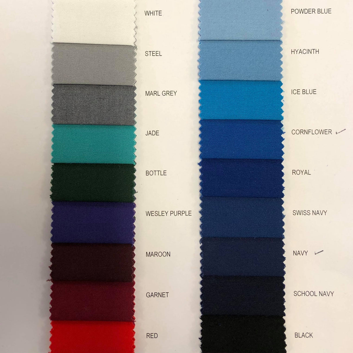 Poly Viscose FABRIC BY THE METRE - Various Colours