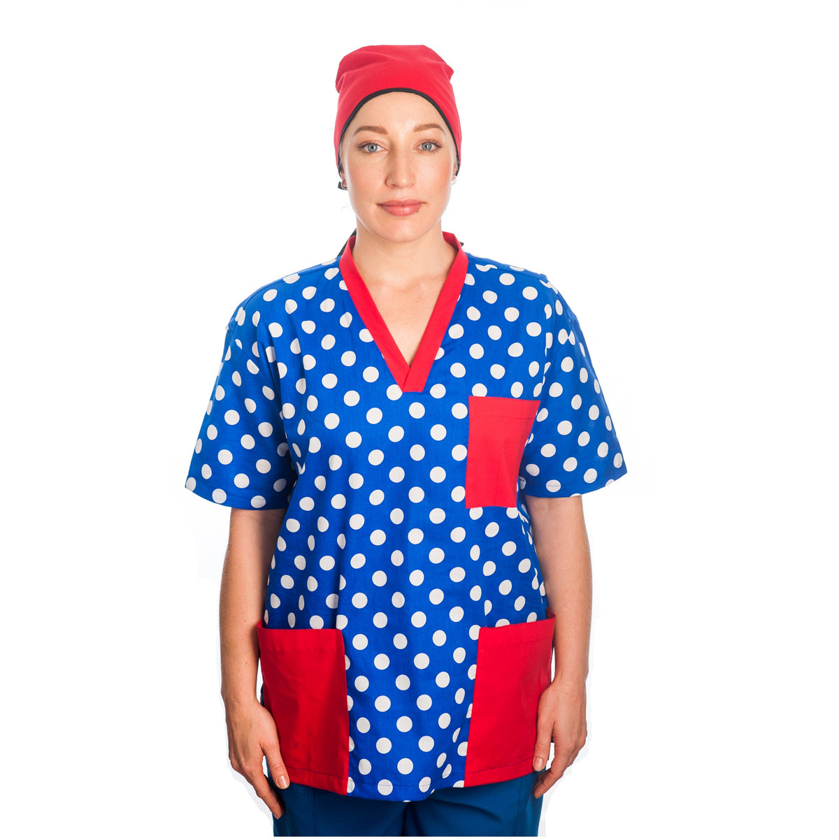 Unisex Scrubs Top - Patterned Colours
