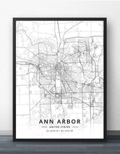 Load image into Gallery viewer, Streets of Ann Arbor Print