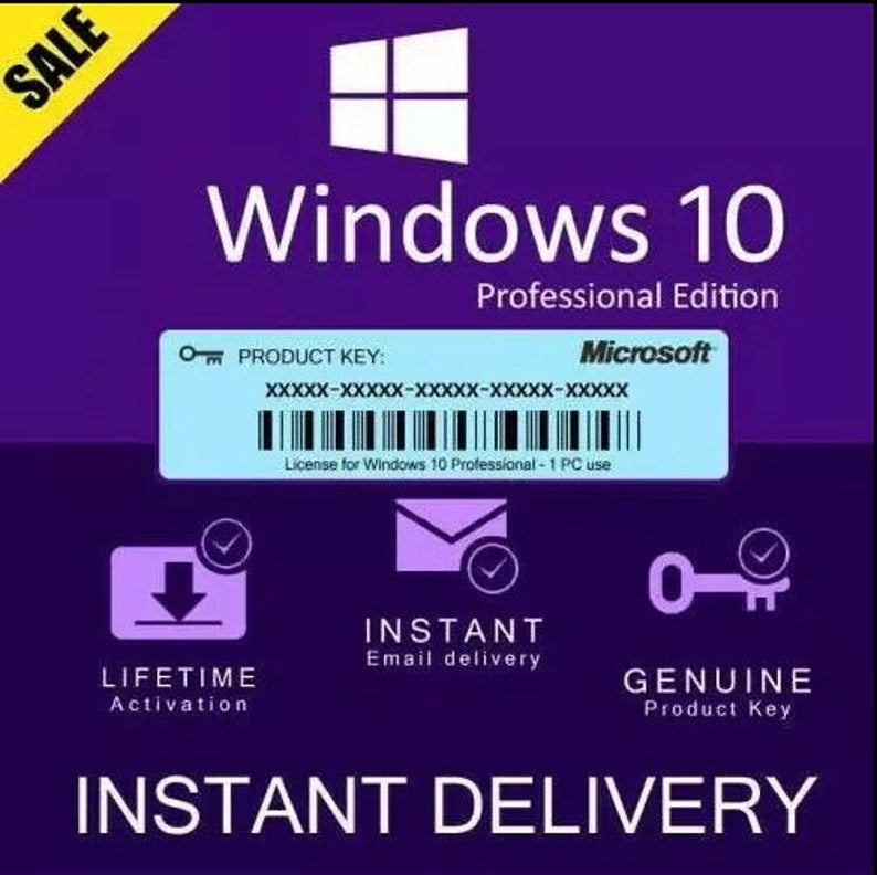 Microsoft Windows 10 PRO Professional Genuine License KEY - softgames-kyes