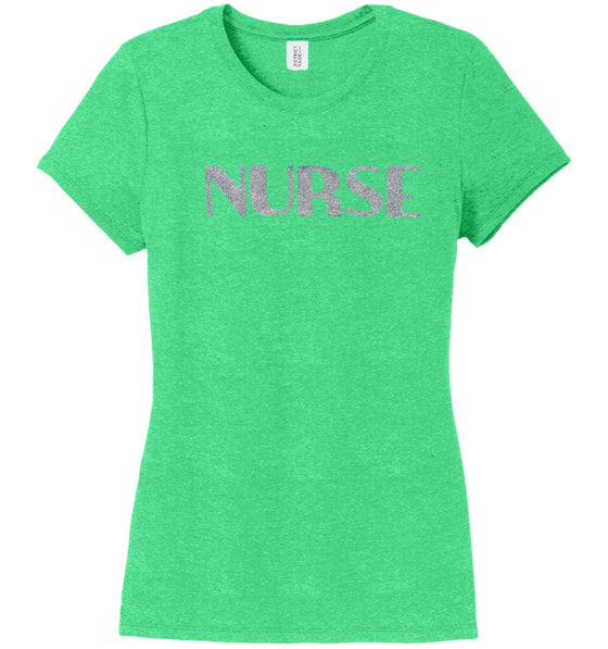 Nurse T-shirts For Women T-shirts Made 4 Healers Green Frost Small