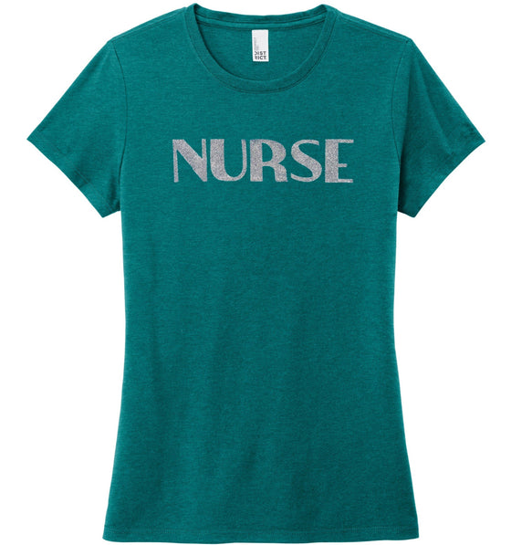 Nurse T-shirts For Women T-shirts Made 4 Healers Heathered Teal Small