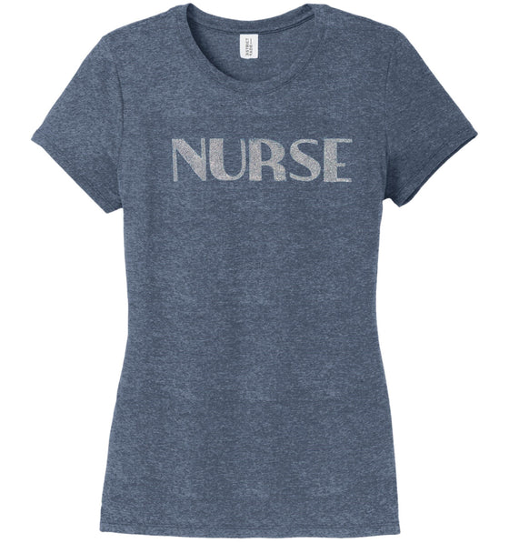 Nurse T-shirts For Women T-shirts Made 4 Healers Navy Frost Small