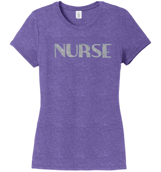 Nurse T-shirts For Women T-shirts Made 4 Healers Purple Frost Small