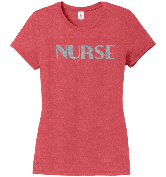 Nurse T-shirts For Women T-shirts Made 4 Healers Red Frost Small