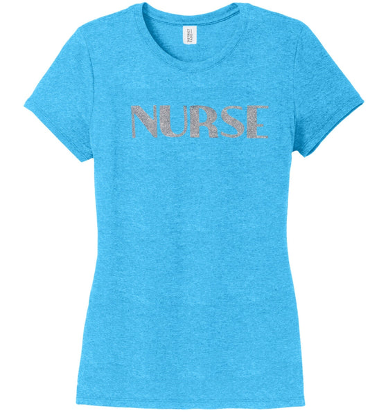 Nurse T-shirts For Women T-shirts Made 4 Healers Turquoise Frost Small