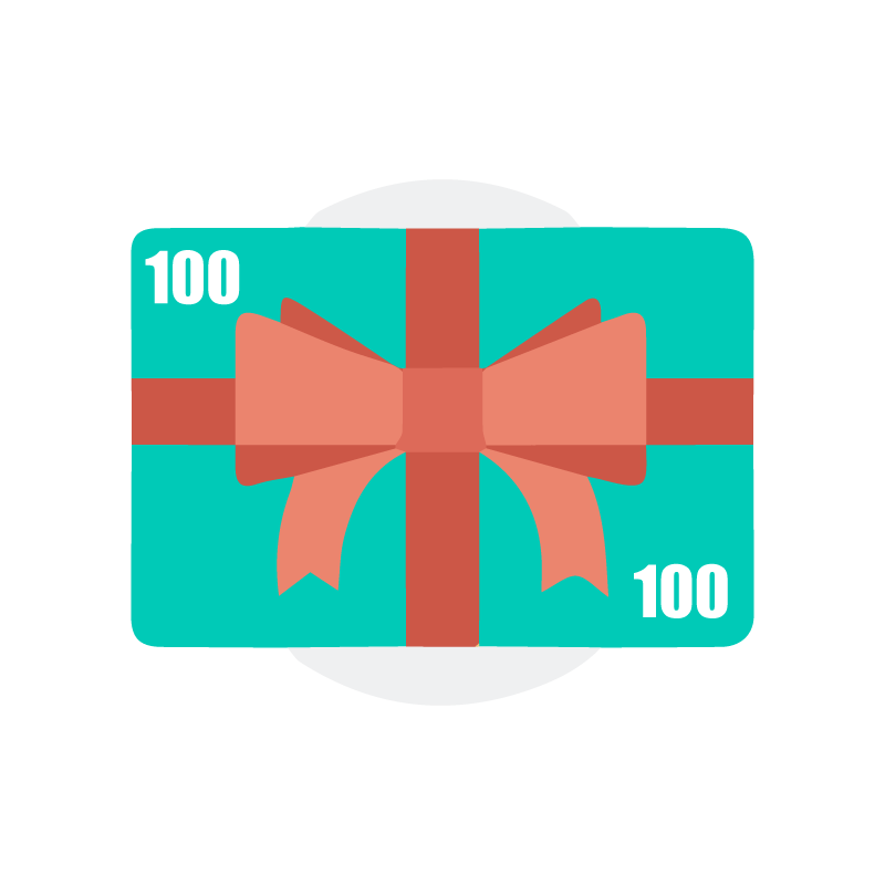 $100. Give the gift of healthy skin, or say thank you to someone. Gift cards are delivered by email and contain instructions for recipient to redeem them at checkout. Thank you for helping us maintain our community and for your support to local businesses.
