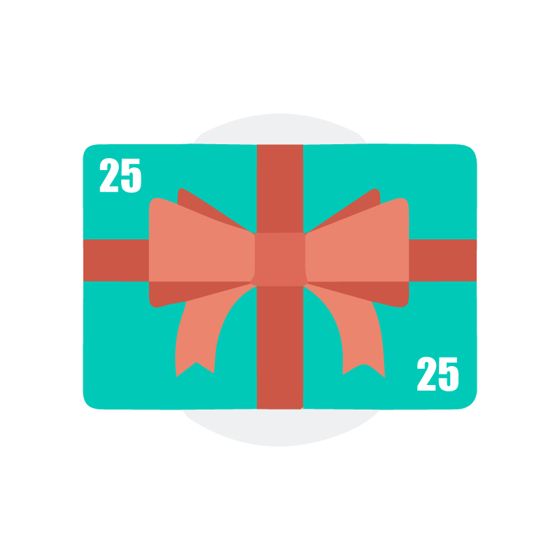 $25. Give the gift of healthy skin, or say thank you to someone. Gift cards are delivered by email and contain instructions for recipient to redeem them at checkout. Thank you for helping us maintain our community and for your support to local businesses.