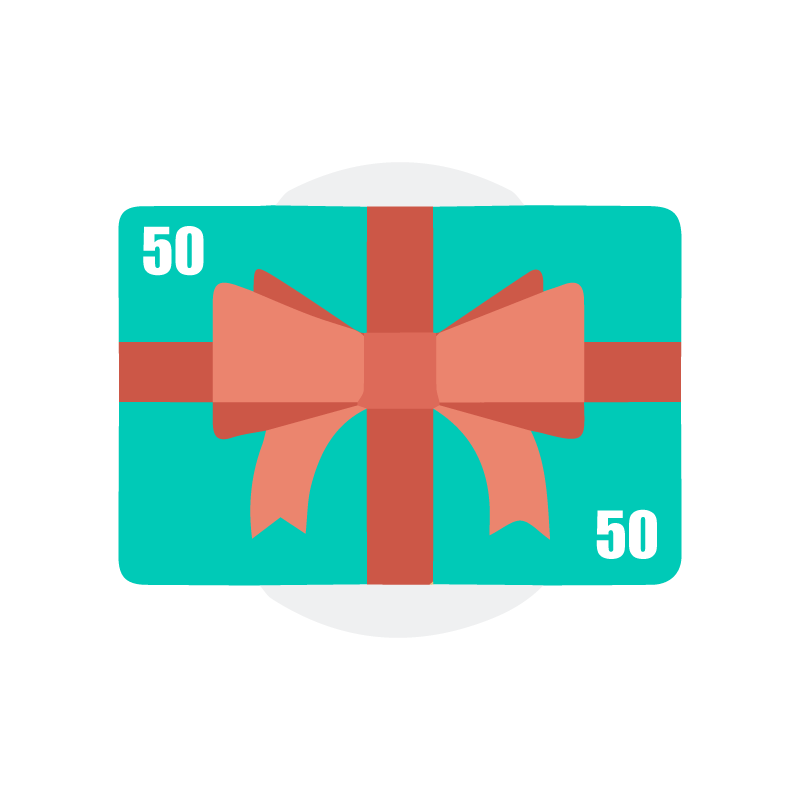 $50. Give the gift of healthy skin, or say thank you to someone. Gift cards are delivered by email and contain instructions for recipient to redeem them at checkout. Thank you for helping us maintain our community and for your support to local businesses.