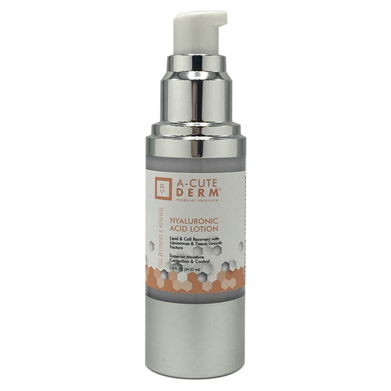 This helps to replace Hyaluronic Acid, the critical lipid deep in the dermis, that keeps collagen and fibril tissue soft, flexible and from becoming brittle. Hyaluronic Acid Lotion fights the free radical damage that occurs causes the accelerated aging of the skin. Loaded with lipids, Super Oxide Dismutase and Tissue Respiratory Factors for healing that bring the skin back to normal conditions. Superb liposome delivery system.