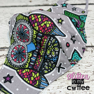 Fitted Mask - Medium - Grey Owls