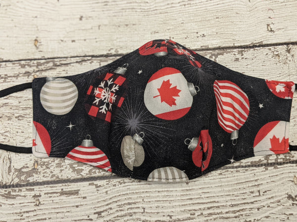 Fitted Mask - Medium - Canadian Christmas Ornaments