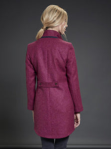 Jack Murphy Ciara Tweed Coat - Winter Pink