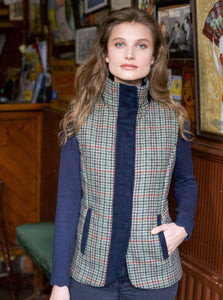 Aideen Tweed Gilet - Hacking Check