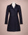 Isabella Tweed Coat - Navy Herringbone
