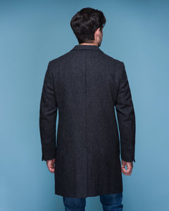 Owen Tweed Coat - Grey Herringbone