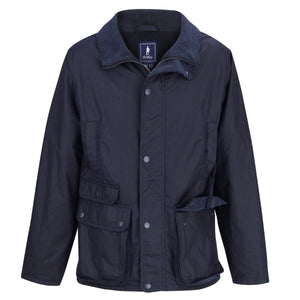 Archie Wax Jacket - Navy