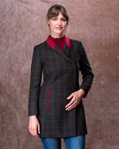 Robin Tweed Coat - Primary Green