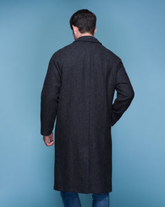Sean Tweed Long Coat - Grey Herringbone