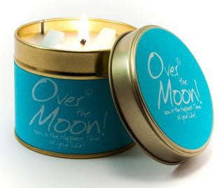 Lily-Flame Over the Moon Candle
