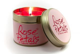 Lily-Flame Rose Petals Candle