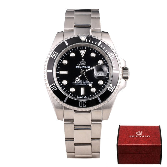 REGINALD Watch Men GMT Rotatable Bezel